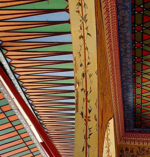 Burdur Bakibey Konağı açık sofa cephesi saçak detayı - Bakibey mansion eaves at open-sofa facade