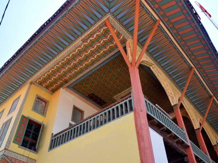 Burdur Bakibey Konağı bezemeli dış cephe elemanları - Bakibey mansion decorated facade elements