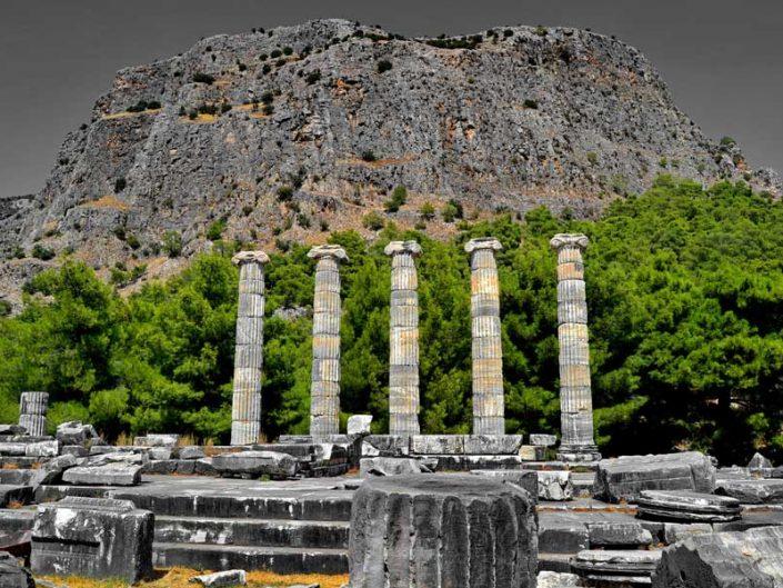 Priene antik kenti fotoğrafları Athena Tapınağı - Priene ancient city Athena temple photos