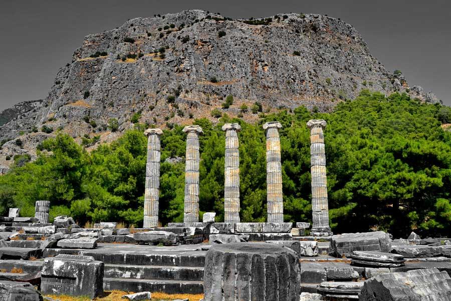 Priene Antik Kenti Bilgileri, Tarihi, Tapınakları, Mimarisi