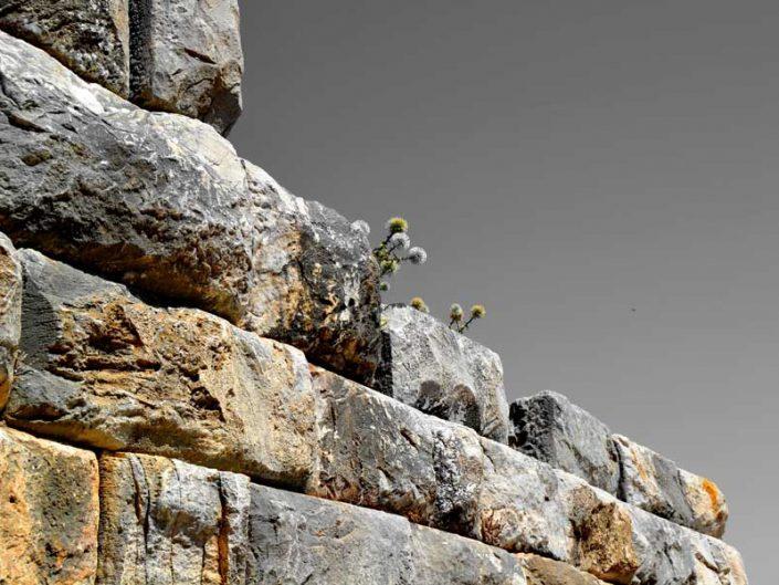 Priene antik kenti şehir surları - Priene ancient city fortification wall