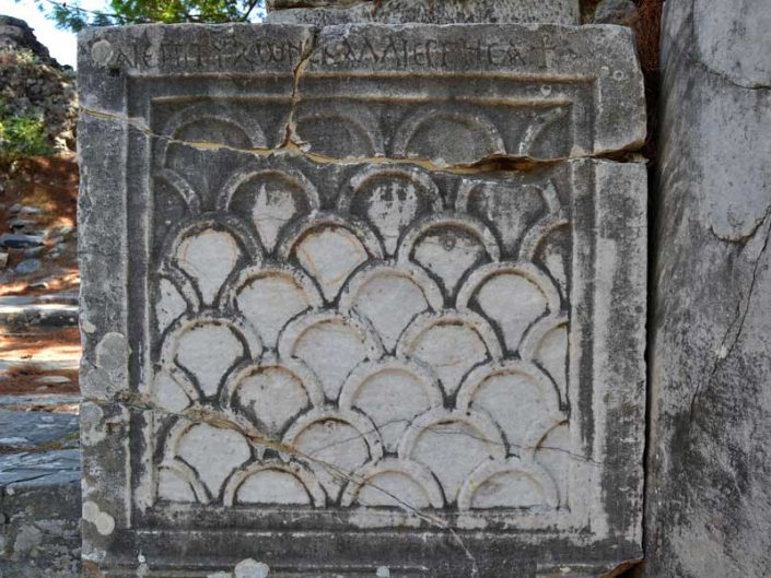 Priene antik kenti süslemeleri - marble decorations of Priene ancient city