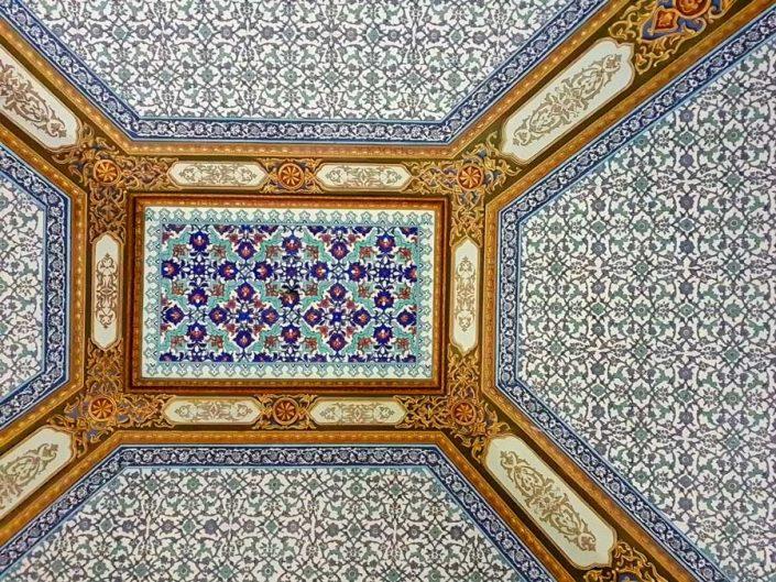 Topkapı Sarayı Bağdat Köşkü tavanı - Topkapı Palace Bağdat Kiosk ceiling decorations