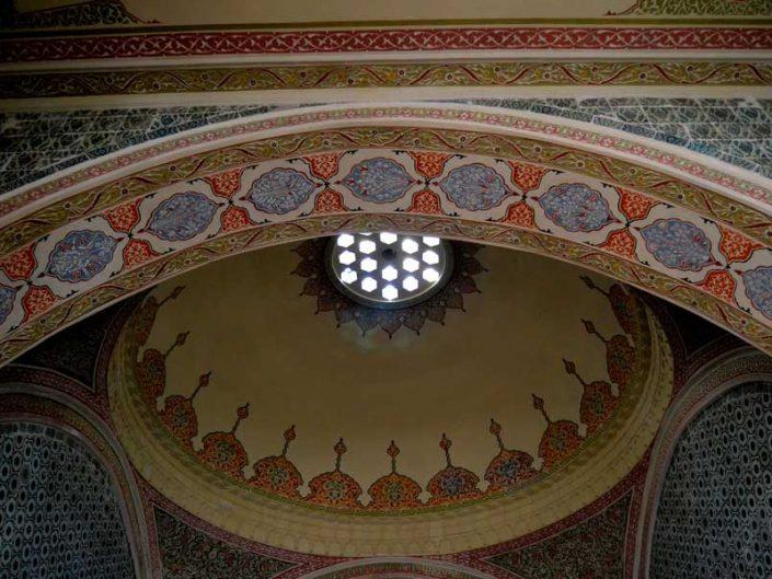 Topkapı Sarayı Haremi Valide Sultan Odası süslemeleri - Topkapı Palace Harem Section Queen Mother's Main Chamber decorations