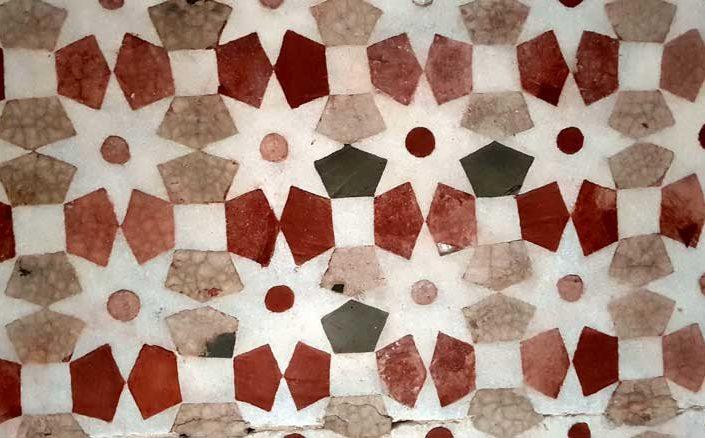 Topkapı Sarayı Revan Köşkü mozaik süslemeleri - Topkapı Palace mosaic decorations of Revan Kiosk