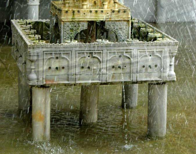 Topkapı Sarayı Sofa-i Hümayun Havuzu fıskiyesi - Topkapı Palace Imperial Pool sprinkler